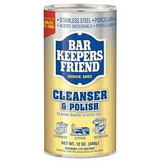 Bar Keepers Friend® Cleanser & Polish: 12 OZ Bar Keepers ...