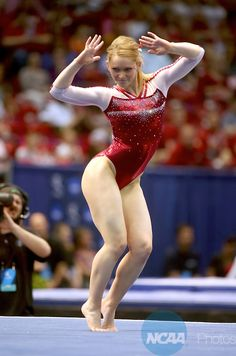 19 APR 2014: Oklahoma Sooner's Haley Scaman scored a 9.950 on the floor exercise during the Division I Women's Gymnastics Championship held at the Birmingham Jefferson Convention Complex in Birmingham, AL. Chris Putman/NCAA Photos