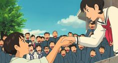 "the last film by studio ghibli ""from up on Poppy Hill"" I think this scene was my favorite. Watching it with the Japanese international students was so much fun."