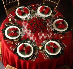 3 ideias para decorar a mesa para a ceia de Natal