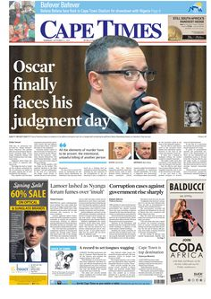News making headlines: Oscar finally faces his day in court