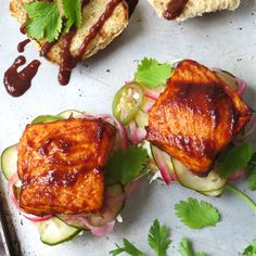 Cedar Planked Salmon Sliders | This is not your typical salmon recipe!