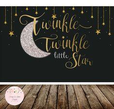Twinkle Twinkle Little Star Backdrop, Twinkle Little Star Birthday Backdrop, Twinkle Little Star Baby Shower Backdrop, Sweet Table-Printable by PeonyBlushDesigns on Etsy