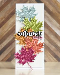 Card Making Inspiration, Making Ideas, Honey Bee Stamps, Leaf Cards, Beautiful Handmade Cards, Thanksgiving Cards, Fall Cards, Card Sketches, Autumn Theme