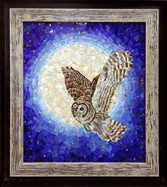 Мозаичная картина Сова