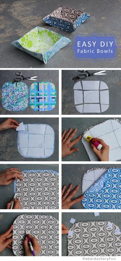 paniette, panier, tuto http://haberdasheryfun.com/wp-content/uploads/2014/02/Collapsible-Fabric-Bowls-8-steps.jpg