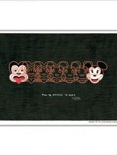 Mickey To Tiki (reversed) – Matted Print Print Design, Art, Kunst, Art Education, Artworks