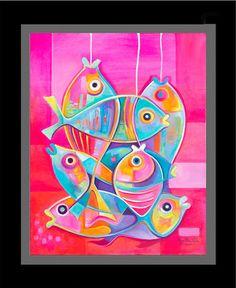 Pintura abstracta del arte al óleo Original sobre por MarlinaVera