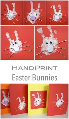 This is a fantastic Kids Craft to do at Easter time. They make the best Easter Cards! Easter Activities, Spring Activities, Holiday Activities, Preschool Activities, Easter Art, Easter Crafts, Easter Bunny, Happy Easter, Easy Paper Crafts