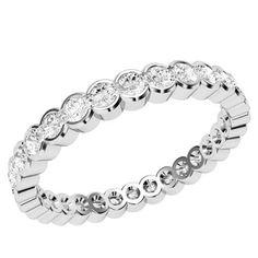 A stylish Round Brilliant Cut diamond set wedding by TheGemDiva