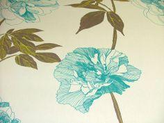 4m Prestigious Linea Petrol 100% Cotton Designer Curtain Upholstery Fabric