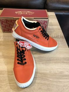 c5f94cf8e268 Details about NASA x Vans Old Skool Space Voyager Firecracker Red Orange  VN0A38G1UPA Size 8-13