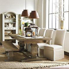 Etonnant Aldridge Antique Walnut Wood Dining Bench