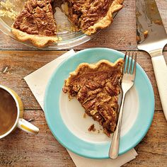 Butterscotch Pecan Pie | MyRecipes A heartwarming slice of pie is always a special treat.