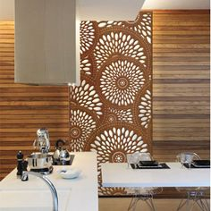 Laser cut interior screen
