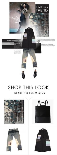 """""""Tricky Trend: Patchwork Denim"""" by semibloom ❤ liked on Polyvore featuring Building Block, Isabel Marant, CÉLINE, Jeffrey Campbell, patchwork, polyvoreeditorial and patchworkdenim"""