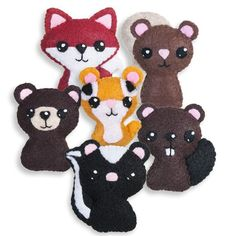 Good as finger puppets Backyard Critters 1 Felt Embroidery pattern on Craftsy.com