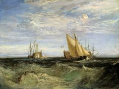Joseph Mallord William Turner 'The Confluence of the Thames and the Medway', exhibited 1808