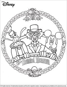 Halloween Disney Coloring Pages And Sheets Find Your Favorite Cartoon Picures In The Library