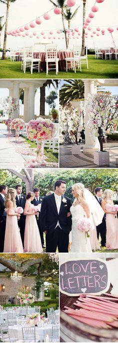 #Pastel pink wedding ... Mariage rose, conte de fée, la vie en rose... Wedding ideas for brides, grooms, parents & planners ... https://itunes.apple.com/us/app/the-gold-wedding-planner/id498112599?ls=1=8 … plus how to organise an entire wedding ♥ The Gold Wedding Planner iPhone App ♥