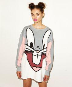 Lazy Oaf | Lazy Oaf x Looney Tunes Big Bugs Oversized Sweatshirt
