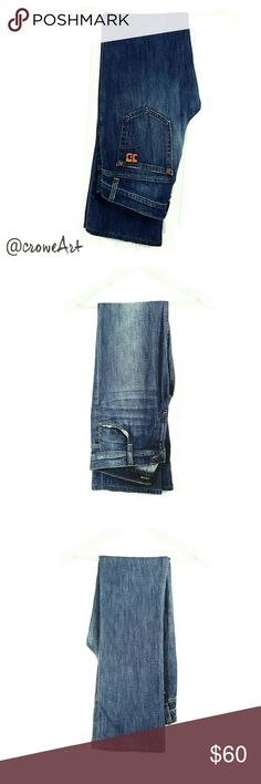 Joe's Socialite Jean, Wide Leg Awesome mid-rise fit jeans by Joe's,  wide leg, distressed look, botton and zip fly style.  Like new condition!!!! Perfect for fall and winter!! Joe's Jeans Jeans Flare & Wide Leg