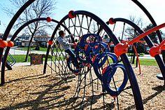 Brant Hills Park, Burlington, Ontario (Evos, by Landscape Structures) Burlington Ontario, Landscape Structure, Hill Park, Playgrounds, Landscaping, Adventure, Kids, Children, Fairytail