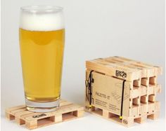 Holz Palette Untersetzer 5er Set