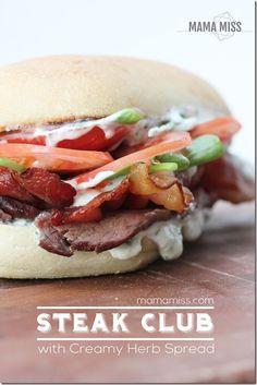 Soooo goood!!!  Steak Club Sandwich | @mamamissblog
