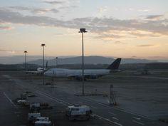 Kuala Lumpur airport at sunrise.