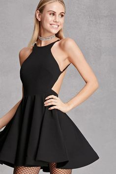 long sleeve fit and flare dresses contrast sides - Google Search