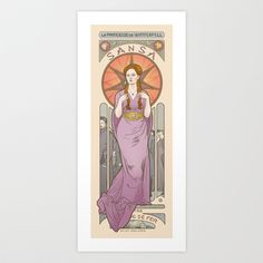 Princess of Winterfell Art Print by ElinJ - $17.95