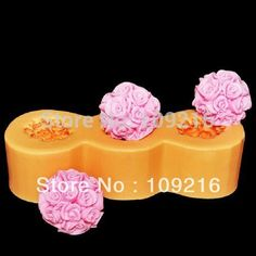 best price wholesalenew style 3d 3pcs rose with ball shapelz0090 silicone handmade candle mold #wholesale #roses