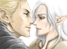 Dragon Age Inquisiton: Staring contest by EseEbi on DeviantArt