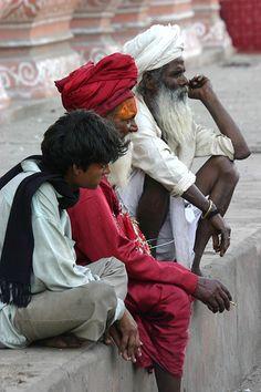 three men in Jaipur