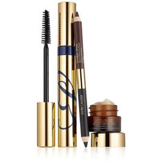 Estee Lauder Modern Wing Gift Set ($26) ❤ liked on Polyvore featuring beauty products, gift sets & kits, makeup, no color, pencil eyeliner and estée lauder