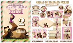 Masha and the Bear, Party Printables Package http://www.printnfun.com/store/p215/Masha_and_the_Bear%2C_Party_Printables_Package.html #mashaandtheBear #partypacks #partysupplies #partyideas #partykids #fiestastematicas #fiesta