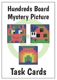 Teaching Resource: A set of 32 activity task cards that require students to colour in a hundreds chart to reveal a mystery picture.