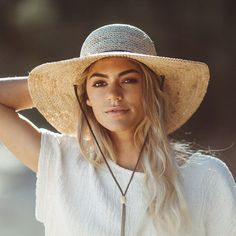 A wide brimmed crocheted organic Raffia hat with a leather chin cord is perfect for a good day in the garden or on the boat. Easily packed away for traveling. Fitted with a comfortable stretch inner band for that perfect fit. Raffia Hat, Summer Hats For Women, Cotton Beanie, Lisa, Outfits With Hats, Beach Girls, Winter Hats, Perfect Fit