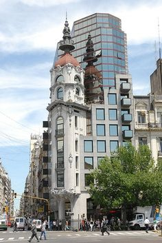 Old and new architecture, Buenos Aires Centro, Argentina Central America, South America, Argentine Buenos Aires, Places Around The World, Around The Worlds, Ushuaia, Beautiful Architecture, Modern Architecture, Historical Sites