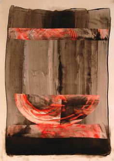 Vessel  mixed media collage