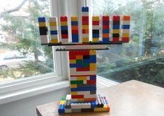 Colorful Lego Menorah step Ideas for Making a Lego Hanukkah Menorah