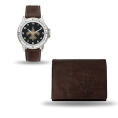 New Orleans Saints Watch/Wallet Gift Set