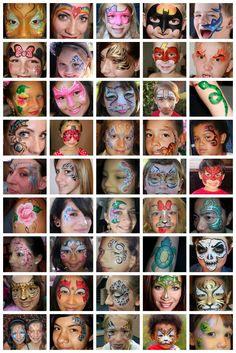 Face Painting display board for Cynnamon/Bay Area Party Ent.
