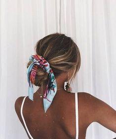 scarf for hair, hair scarf hairstyles Pretty Hairstyles, Easy Hairstyles, Bandana Hairstyles For Long Hair, Hairstyle Ideas, Stylish Hairstyles, Straight Hairstyles, Headband Hairstyles, Hair With Bandana, Hair Styles With Bandanas