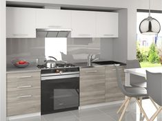 Kuchynská linka Lima 180 cm - s LED osvetlením Dublin, Kitchen Cabinets, Minimalist, Ikea, Table, House, Furniture, Design, Home Decor