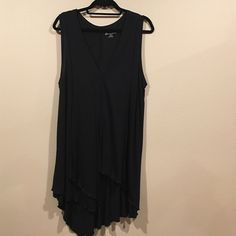 Lane Bryant top Long tshirt top with layers in front and scalloped bottom.  Really cute. Lane Bryant Tops Tunics