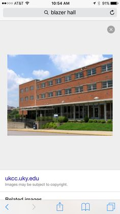 This is blazer hall, it has classrooms, dorms, and a dining facility. Blazer is also another one of my favorite places to eat. It is very old and outdated though, how long has blazer been here? Are they going to get rid of it?