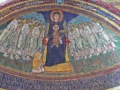 Santa prassede - Mother of God and Saviour. Holy Mary, Children Images, Ravenna, Medieval Art, 12th Century, Santa Maria, Fresco, Rome, Taj Mahal