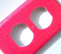 Glitter Outlet Cover  Hot Pink by lindsayslights on Etsy, $5.50